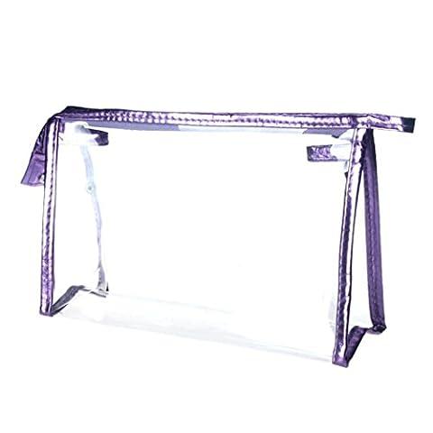 Yogogo - Trousses - Femmes - Waterproof - Clear - Maquillage Sac - Portable Storage Sac à main (Violet)