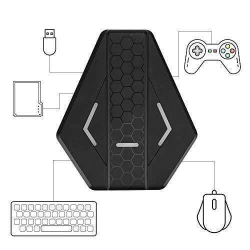 yidenguk Tastatur- und Maus Adapter für Nintendo Switch / Xbox One / PS4 / PS3, Spielekonsolen Maus- und Tastaturkonverter Gamepad Controller Adapter mit USB-Datenkabel