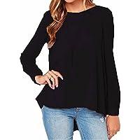 ZANZEA Camicetta Blusa Camicia Manica Lunga Casual Chiffon Elegante Sexy Ufficio T-shirt Maliga per Donna