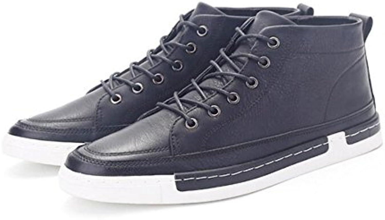 Spring Casual Herrenschuhe Ritter Stiefel British Retro Fashion Stiefel Low Hilfe Herren Stiefel Schwarz Blau