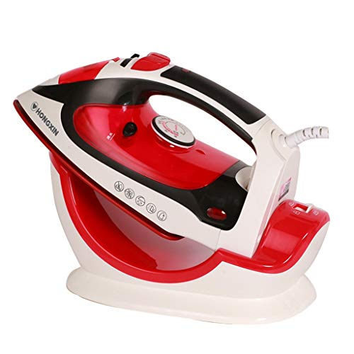 Coco Fer à repasser à la vapeur à vapeur Fer à repasser avec fil et sans fil à double usage / 2000W - Noir et rouge