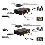 HermosaUKnight Audio Splitter Audio Video Decoder FDDI 2.1 5.1 Verstärker AC3 DTS HiFi