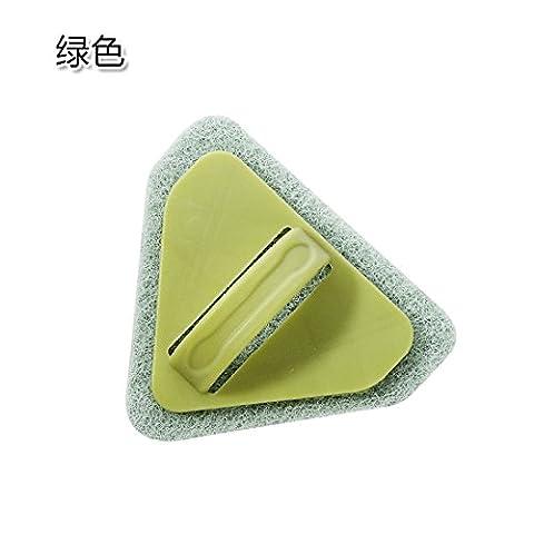 Home und Sonstiges wc Bürste Dreieck Bad Bürste zu scheuern, der Fußboden im Bad Fliesen Küche Dekontamination Schwamm der Herd Reinigungsbürste Grün zu (Bad Scheuern)