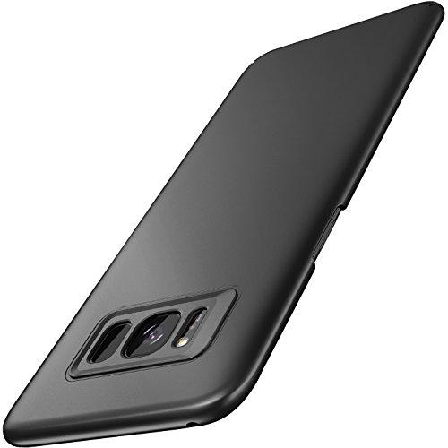 RANVOO Galaxy S8 Hülle Case, S8 Hülle Case Kunststoff Handyhülle Kameraschutz Schutzhülle Slim Matt Hardcase Anti-Kratzer Anti-Fingerabdruck Cover Case für Samsung Galaxy S8, 5.8 Zoll (Schwarz)