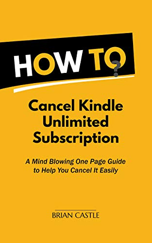 How to Cancel Kindle Unlimited Subscription in 30 Seconds ...