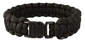 Mil-Tec Paracord Bracelet 22mm Noir Taille S