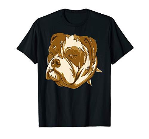 Kostüm Hunde Bulldog - Bulldog Gesicht Kostüme Cooles Hund Halloween Outfit T-Shirt