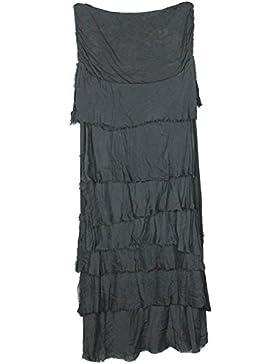 MIXLOT mujer italiana Lagenlook peculiar efecto en capas de colmillo volante de sierras de sierras señoras largo...