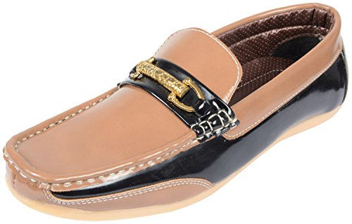 OORA Men's Black Faux Leather Loafers - 10 UK
