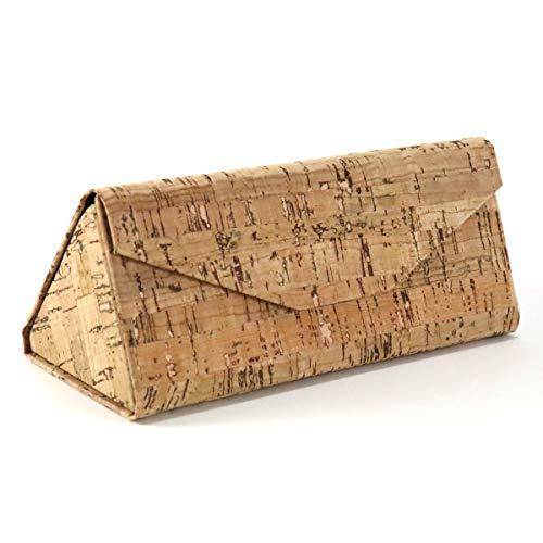 CorkLane faltbares Brillenetui 6,5x6,5cm echt Kork dreieck Case