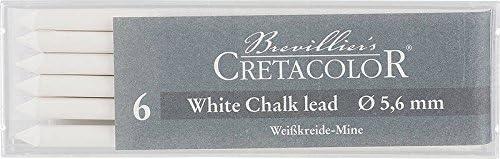 Cretacolor Artists' White Pastel Dry Leads Medium (Set of 6)