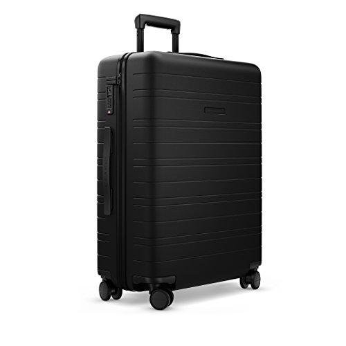 HORIZN STUDIOS H6 Check-In Reisekoffer (M) | Großer Trolley | Hartschale 64 cm 65 L mit 4 Rollen und TSA Schloss (All Black)