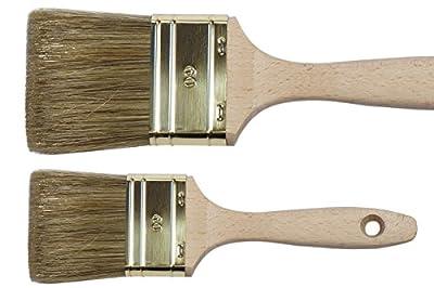PREMIUM Lasur Flachpinsel OREL MIX Lasurpinsel Maler Pinsel Wasser Lasurenpinsel für wasserverdünnbare Lasuren und Lacke