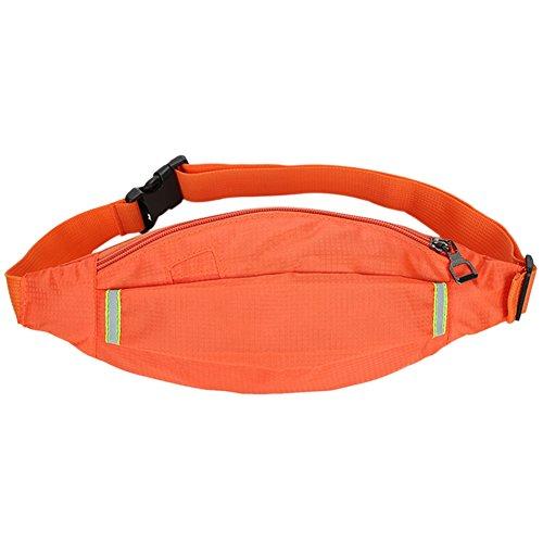 Reefa Square Hidden Grid Outdoor Unisex Running Sport Reisen Thin Body Unsichtbare Taille Tasche Orange