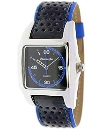 Reloj analógico de señora Christian Gar Cuadrado Mod.Fashion 7241- Color Azul