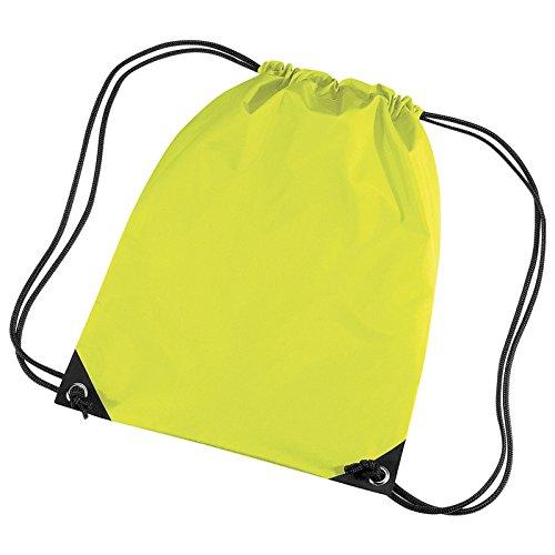 BagBase BG10BagBase Premium Gymsac fluorescente amarillo