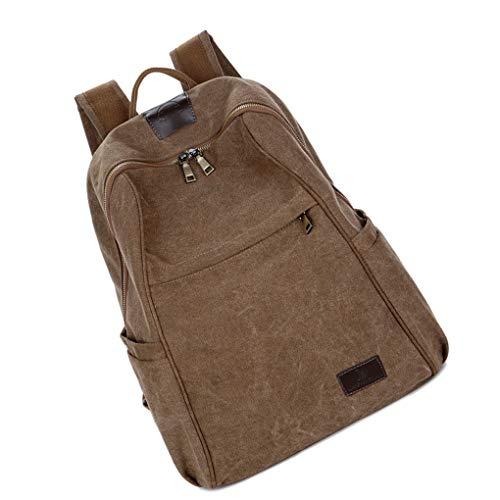 Royalr Männer Frauen Rucksack Umhängetasche Segeltuch-Rucksack Outdoor-Jungen-Mädchen-Zipper Schoolbag Daypack (Segeltuch-frauen-rucksack)