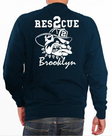 feuer1 'Sweat Rescue 2 – Pompiers avec Fire Fighting Bulldog – Brooklyn – New York L Bleu Marine