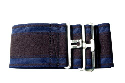 PFIFF Elastischer Deckengurt, gestreift/blau/braun, 005127-123-1