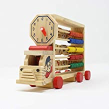 Tootpado 1TNG128 Abacus Activity Train Alphabets Numbers and Time Learning Toy