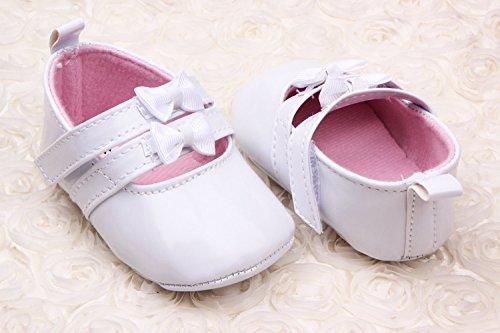 Schuh Bigood Mädchen Baby Ballet Krabbelschuhe stil Zwei Lauflernschuhe Weiß Schleife Liebe qSxrpSwBI