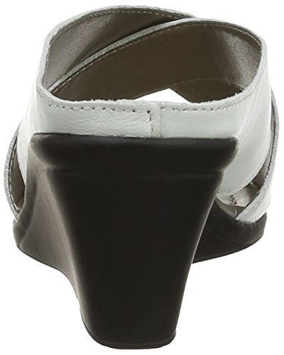 Lotus Trino Sandali con Tacco da Donna Bianco (White Leather/Black)