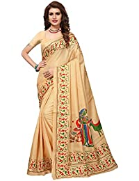 Nirja Creation Multi Color Fancy Party wear Bhagalpuri Khadi Silk Saree (6 Color)