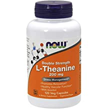 Now Foods L-Theanine Veg Capsules, 200 mg, 120 Count by Now Foods