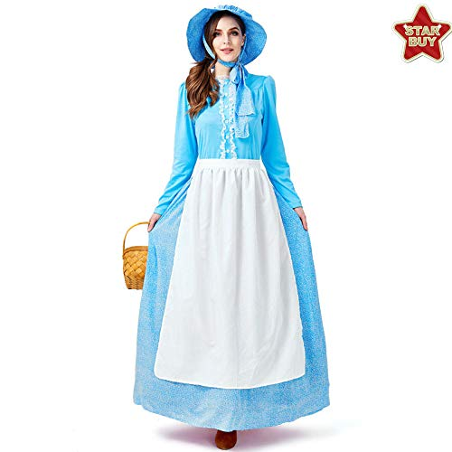 COSOER Die Kleidung Der Idyllischen Art-Frauen Märchen-Kolonialkleid Für Weibliche Abnutzung - Beängstigend Weiblichen Kostüm