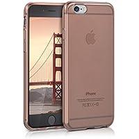 kwmobile Hülle für Apple iPhone 6 / 6S - TPU Silikon Backcover Case Handy Schutzhülle - Cover klar Rosegold