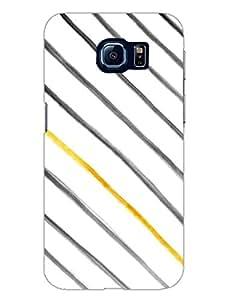 Samsung S6 Edge Covers - Gold Stripes Diagonal - Designer Printed Hard Shell Case