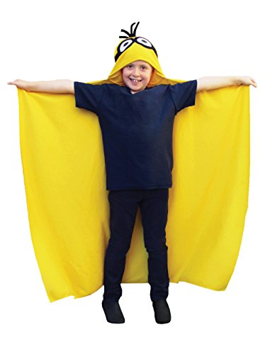 Minion Made Hooded Fleece, 100% Polyester, gelb, 125x 100cm (Despicable Me Dress Up)