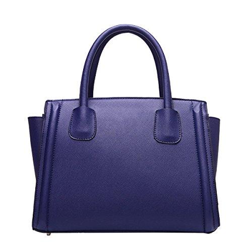 Yy.f Borse Nuova Spalla Di Cuoio Modo Insacca In Diagonale Estrinseca La Moda Intrinseca E Pratico Multicolore Blue