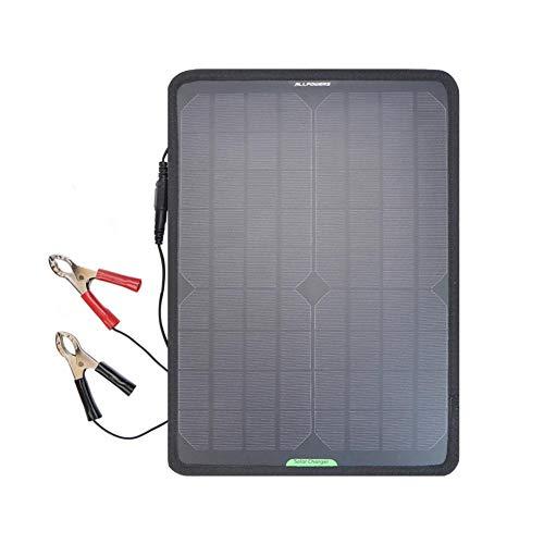 Tragbar Solar Panel Battery, 18V 12V 10W Solarzelle Auto Boot Power Panel Ladegerät Wartung, Akkuladegerät Maintainer Bundle Mit Zigarettenanzünderstecker, Für Auto Motorrad Traktor Boot Batterien - Solar-power-auto-batterie-ladegerät