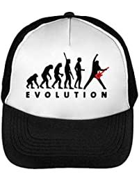 Evolution Of Rock Gorras Hombre Snapback Beisbol Negro Blanco