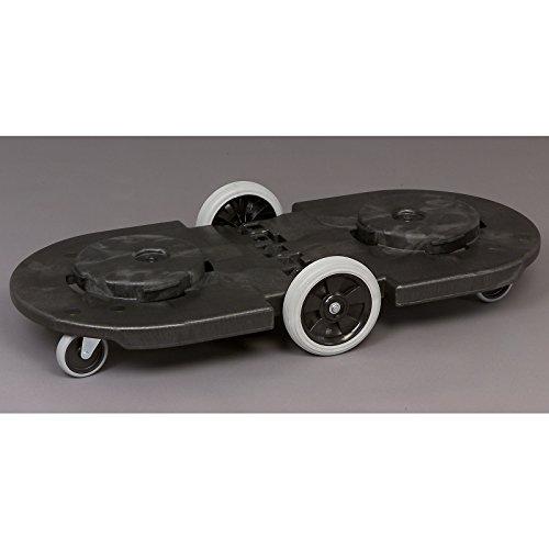 Fahrgestell für Rundtonne - Tandem-Fahrgestell - 4 Lenkrollen, 2 große Bockrollen - Fahrgestell Fahrsatz Rundtonne Zubehör
