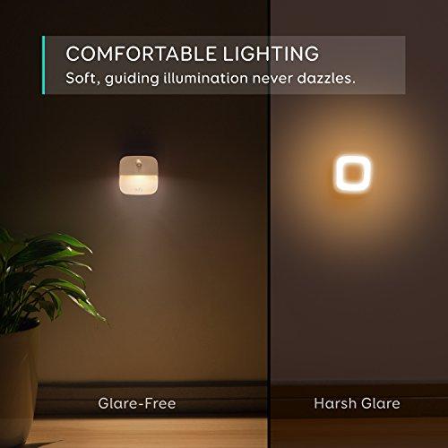 [3 unidades]Eufy Lumi luz de noche,  luz nocturna LED blanco con sensor de movimiento para dormitorio,  baño,  cocina,  pasillo,  escaleras,  energéticamente eficiente,  compacto