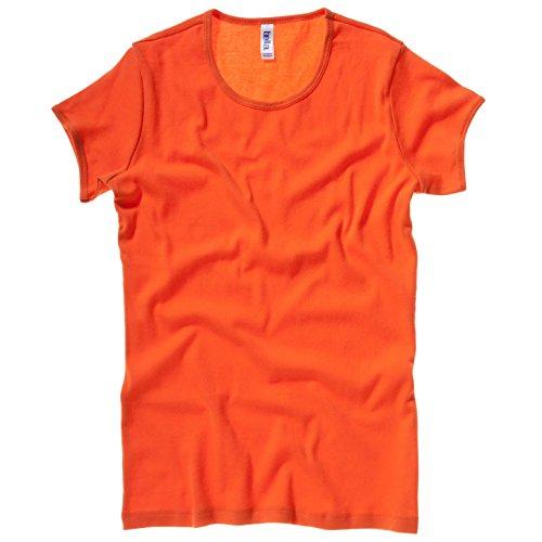 Bella Damen Canvas 1001 Baby T-Shirt Rib Orange - Orange