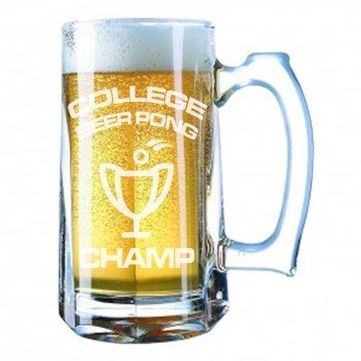 Giant Oktoberfest 28Unzen Bier Stein-College Beer Pong Champ Winning Trophy Geschenk Laser Gravur