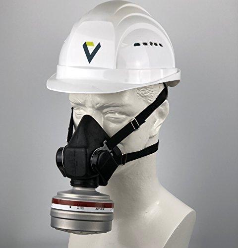 BartelsRieger Profi Atemschutzmaske + Filter/Set für Lackier-, Garten- und Landschaftsarbeit/Viertel-Maske + A2P3 Filter