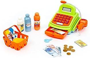 Mamatoy MMA07000 - Funnytoy Cassa del Supermercato Superfunny, Registratore di Cassa con Luci, Suoni, Scanner, Microfono, Calcolatrice e Accessori per la Spesa