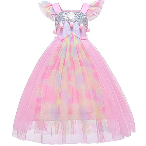 Princess Peach Dress Up - L-Peach Cosplay Dress Up Hochzeit Blumenmädchen