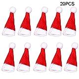 Klinkamz - 20 Sombreros de Navidad pequeños con diseño de Papá Noel