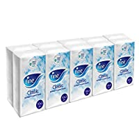 Fine, Facial Tissues, Classic Pocket, 10x3 Ply White Tissues, pack of 10, 100 tissues
