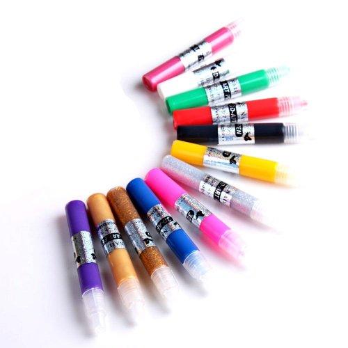 Davidsonne Pro 12 Farben 3D Paint Pen UV Gel Acryl Nagel KunstPolnisch Werkzeug DIY Dekorationen