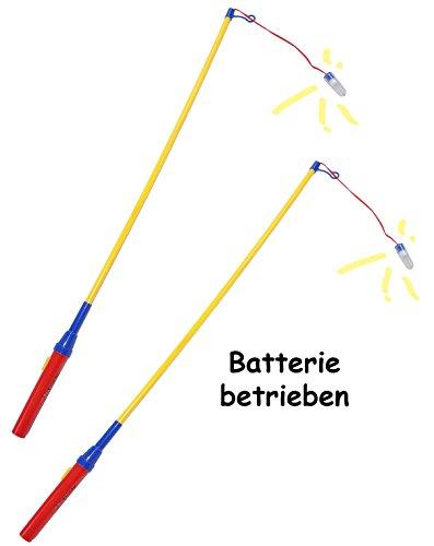 alles-meine.de GmbH 1 Stück _ Laternenstab - elektrisch für Batterie - z. B. für Lampions & Laternen - 72 cm - Laternenumzug - Mädchen Jungen / Kinder - Papierlaterne - Teleskop .. (Hängelampen Betrieben Batterie)