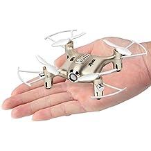 Syma X20 Mini Drohne UFO RC Quadcopter Nano Kleine Leichte Zimmer Drone Kinder Spielzeug Ferngesteuert Mit Kopflosem Modus und einer Taste Start /Landung 2,4 GHz 4CH 6-Achsen-Gyro RTF Quadrocopter(Golden)