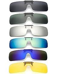 Bazaar UV400 cilp polarizado en las gafas de sol de conducción lentes de visión nocturna para que suba los vidrios de la miopía