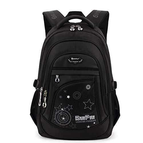 k Schulranzen Schultasche Sports Rucksack Freizeitrucksack Daypacks Backpack für Mädchen Jungen & Kinder Damen Herren Jugendliche mit der Großen Kapazität (Schwarz) ()