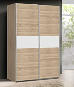 schwebet renschrank kleiderschrank ohs823e1 q45f sonoma eiche wei 120 cm k che. Black Bedroom Furniture Sets. Home Design Ideas